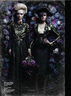 Tirade Magazine. Mike Adler Styling, LaRoache Brothers photography. Floral wall by Yan Skates