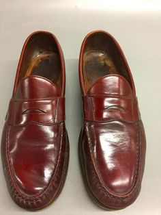 22681b40e33 Allen Edmonds CORDOVAN~ Bordeaux Shoes~PENNY LOAFERS Mens Size 13C~NICE  CLEAN