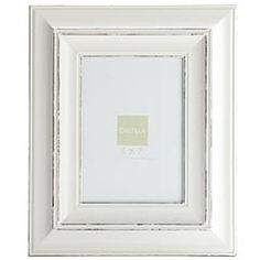 simple white frame
