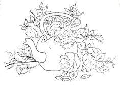 ESPAÇO DA CRIS: Riscos - Flores e Rosas I Plastic Canvas Stitches, Adult Coloring Pages, Gourds, Line Drawing, Flower Patterns, Stencils, Moose Art, Sketches, Diy Crafts