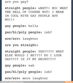 *laghter mixed with ish* Stupid Funny Memes, Funny Relatable Memes, Hilarious, Lgbt Memes, Cute Gay, Tumblr Funny, Saga, Feminism, Equality