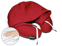 HoodiePillow Brand Memory Foam Hooded Travel Pillow - Bur