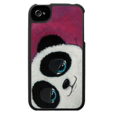 Blue Eyed Panda Bear | iPhone 4 Case
