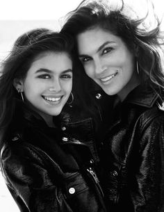 "Kaia Gerber & Cindy Crawford in ""Famille Modèle"" for Vogue Paris, April 2016Photographed by Mario Testino"