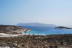 Prasa Beach from afar, Kimolos, Greece.