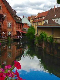 colmar, Alsace #france #alsace #colmar #canal