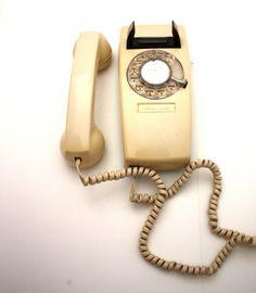 Vintage CREAM Rotary Wall Phone