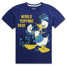 Boys World Tripping Cotton Short Sleeve T-shirt available from  kapkids.in