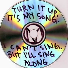 while listening to rock and roll- the maine .room decor idea, song lyrics on plain cds hung from the ceiling or nailed to a wall Music Cover Photos, Music Covers, Album Covers, I Love Music, Music Is Life, Casa Rock, It's All Happening, Music Aesthetic, Aesthetic Grunge