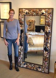 Large seashell mirror 6' x 3 1/2'  $4300. Yikes!