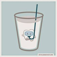 Milk is a great place to store broken teeth in until you're able to get to a dentist