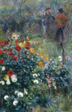 Renoir - Garden in the Rue Cortot, Montmartre, 1876.