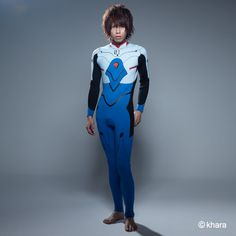 """This zipless wetsuit is modeled after Shinji's white and blue plugsuit from the recent Rebuild movies and includes all the tiny details of the suit like the """"1"""" markings and more. Not only is this great for guys who enjoy water sports, it also would make an awesome cosplay outfit. This wetsuit was designed for men, but girls who'd like to add a bit of Evangelion style to their beachwear have the c..."""