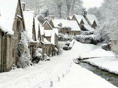 Arlington Row Cottages, Bibury, the Cotswolds, Western England