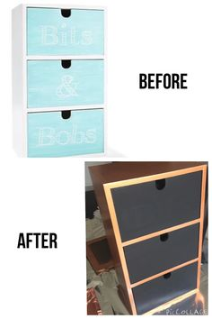 Small wooden drawers for storage on desk or duchess. Paint them white to match bedroom colour scheme.