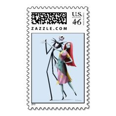 Jack and Sally Dancing Stamps