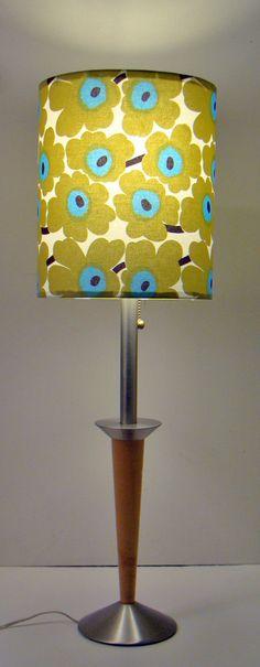 Custom made Marimekko lamp shade. Swoon.