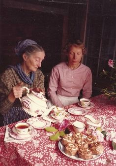 Tea on Tasha's Porch via http://visitstocorgicottage.blogspot.com/