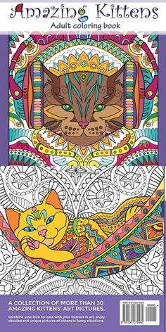 Cute Kitty Cat Coloring Book For Adults