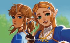 I know they are Link and Zelda, but I like to think it's Dánaris and Ronan