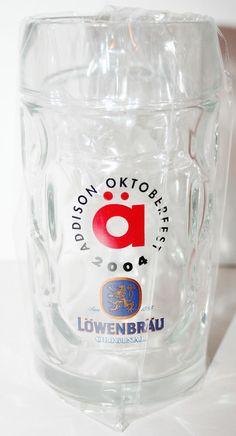 2004 Addison Oktoberfest LOWENBRAU Glass Beer Mug Stein 0.51 L Half Litre NICE