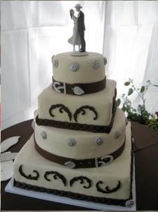 very cute country wedding cake!