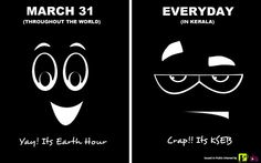 And thats how excited Malayalees are about Earth Hour!!!  O_o