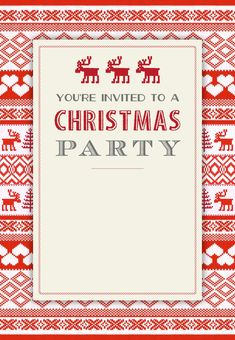 A merry little party free printable christmas invitation template sweaters pattern free printable christmas invitation template greetings island maxwellsz