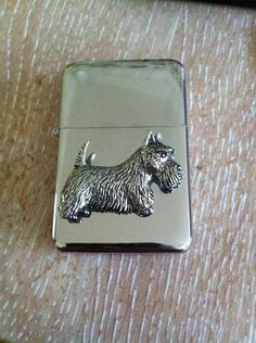 Flip Top Petrol Lighter Windproof Silver Refillable with Scottish Terrier Dog | eBay