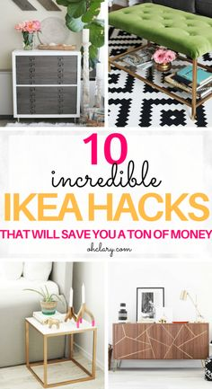 These 10 DIY IKEA Hacks will save you so much money on your furniture! - Ikea DIY - The best IKEA hacks all in one place Ikea Hacks, Ikea Hack Storage, Diy Storage, Storage Ideas, Diy Hacks, Ikea Organization, Smart Storage, Storage Baskets, Storage Solutions