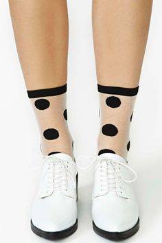 Hansel from Basel Clear Spot Ankle Socks