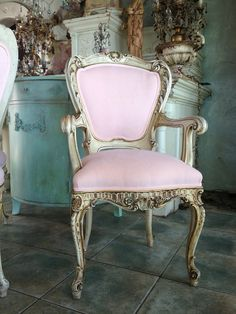 Italian pink chairs