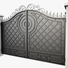 Wrought Iron Gate 23 Model available on Turbo Squid, the world's leading provider of digital models for visualization, films, television, and games. Compound Wall Gate Design, Gate Wall Design, Grill Gate Design, House Main Gates Design, Steel Gate Design, Front Gate Design, Wrought Iron Gate Designs, Wrought Iron Gates, Gate Designs Modern
