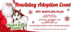 #Santa Paws is arriving at Pet Supplies Plus this #Saturday in #Hazlet NJ.  $10 donation goes to the care of our precious #adoptables
