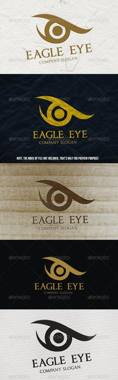 Eagle Eye Logo — Vector EPS #look #social • Available here → https://graphicriver.net/item/eagle-eye-logo/5637149?ref=pxcr