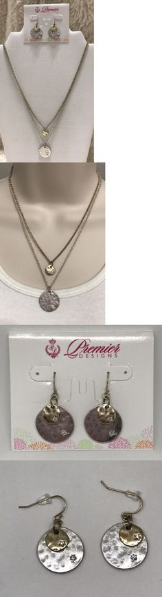 Jewelry Sets 50692: Premier Designs Jewelry Over The Moon Necklace Earrings Set Silver Gold Star Box -> BUY IT NOW ONLY: $34.99 on eBay!