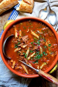 Make Spicy Italian Sausage Whole Grain Penne Soup using this healthy whole-grain pasta recipe.