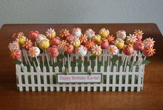 The cutest cake pop flower garden!