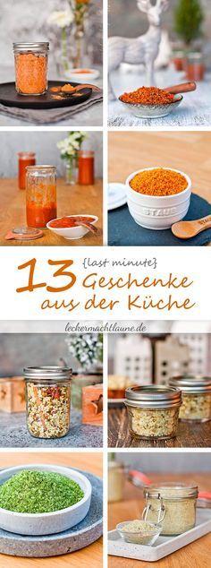 Für alle, die auf der Suche nach einem schnell gemachten Geschenk aus der Küche sind gibt es hier direkt 13 Last Minute Geschenke aus der Küche. :)