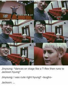 Lol, Jinyoung and Jackson