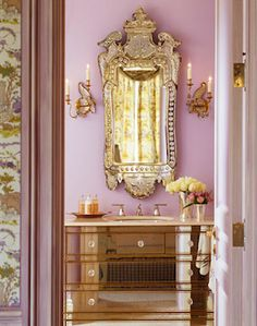 ornate bathroom - so feminine!