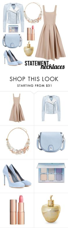 """""""Eve' s innocence"""" by confusioninme ❤ liked on Polyvore featuring Chi Chi, Accessorize, rag & bone, Miu Miu, Anastasia Beverly Hills, Charlotte Tilbury, Lolita Lempicka, nude, statementnecklaces and motojackets"""