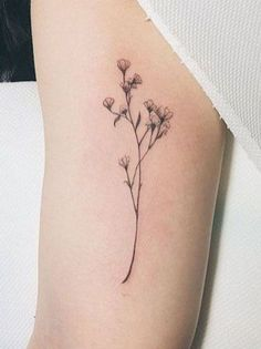 Floral tattoo delicate top design ideas 79