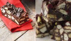 Nepečené čokoládové kostky s ořechy a sušenkami Cooking Cookies, Sweets, Baking, Food, Gummi Candy, Candy, Bakken, Essen, Goodies