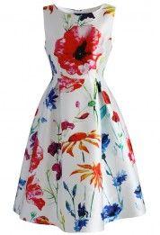 Applause of Nature Printed Midi Dress