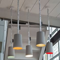 Lámpara suspendida / moderna / de interior / de nilón - PAINT CEMENTO - in-es artdesign