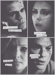 The Vampire Diaries; they never wanted to be vampires. But, they were all so good at it. Especially Caroline she was the best. Damon only wanted to be human and happy in the end. Elena never asked to be a vampire, it got pushed on her. Stefan fell in love with the wrong girl and got more than he ever bargained for.