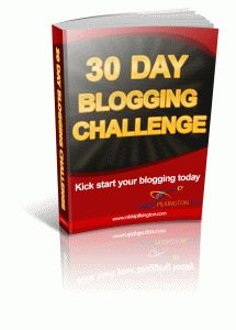 Weekend sale - £4.50 at http://www.30daychallenges.nikkipilkington.com/30day/store/products/30-day-blogging-challenge-ebook/