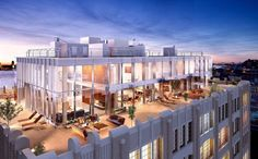 Skyloft Penthouse in New York City's Tribeca neighborhood has become the most expensive condominium ever sold in downtown Manhattan. New York Penthouse, Luxury Penthouse, Luxury Apartments, Luxury Homes, Manhattan Penthouse, Penthouse Suite, Resorts, Rooftop Design, Rooftop Terrace