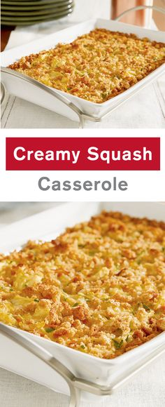 This creamy, crowd-pleasing side dish features summer squash, carrots, stuffing mix, and cheese baked in a creamy sauce. Crispy on top and creamy in the center, this Squash Casserole recipe is a winner on any menu—especially your Thanksgiving spread.